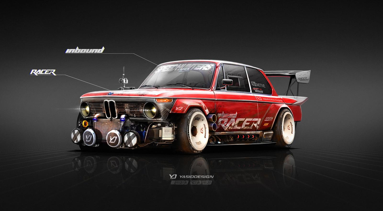 Bmw 2002 Tii Race Car >> 1974 BMW 2002 Inbound Racer by yasiddesign on DeviantArt