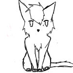 free lineart kittie journal doll by Accalialove