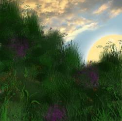 Background Hilltop by JaneEden