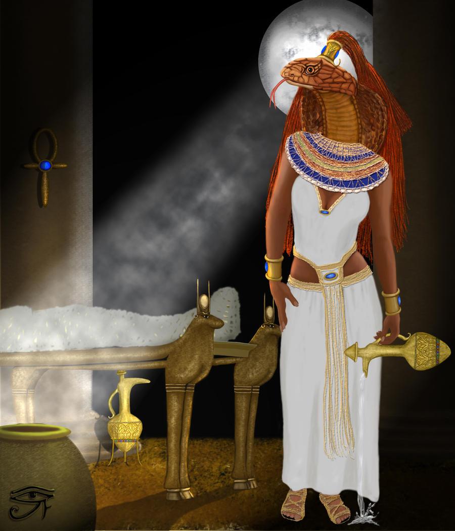 Kebechet Egyptian Goddess by JaneEden