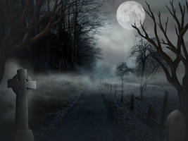 Haunted Woods background free stock by JaneEden