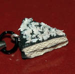 Chocolate Coconut Cake Sculpey Cellphone Charm