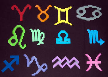 Zodiac Perlers by LillyInverse