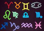Zodiac Perlers