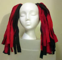 Felt Cyberlox - Black and Red by LillyInverse