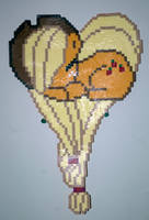 Applejack heart perler by LillyInverse