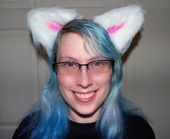 Large Custom Anthro / Furry / Cosplay ears by LillyInverse