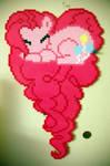Pinkie Pie Heart Perler