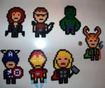 Chibi Avengers Perlers Set