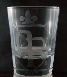 Ouran High School Crest Etched Glass