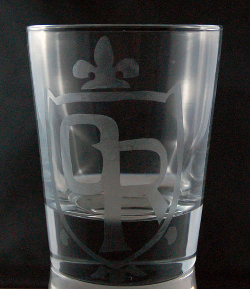 Ouran High School Crest Etched Glass by LillyInverse