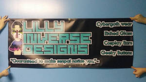 Lilly Inverse Designs Vinyl Banner by LillyInverse