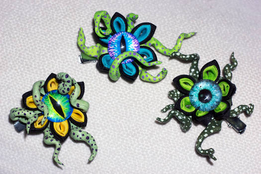 Custom Tentacle Creepy Kanzashi Hair Ornament