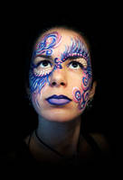 Face Paint - Circus Angel by bunnygopoof