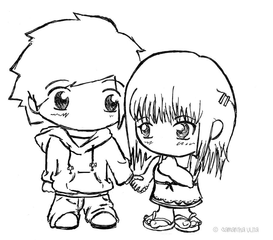 chibi 39 s holding hands by samanthaulita on deviantart