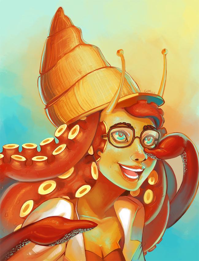 Mollusk Girl by GDBee