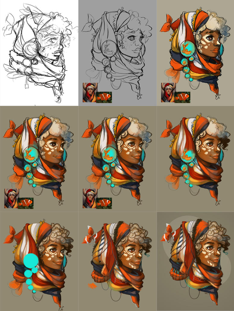 Pisces WIPs By GDBee