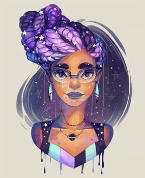 Celestial goddess braids