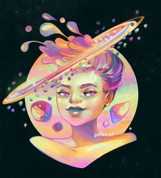 Planette Saturn by GDBee