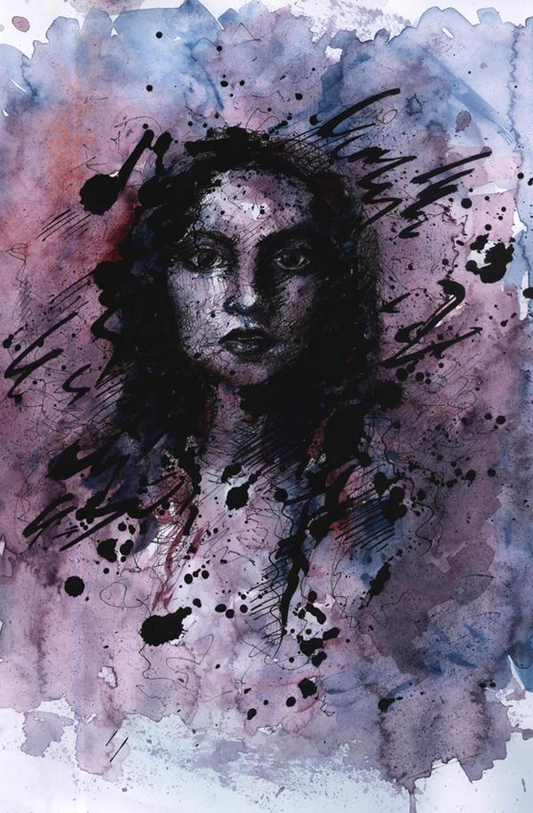 Portrait with splotch by Anyytah
