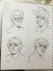 Zane, Kai, Cole and Jay by star-bite13