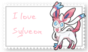 Sylveon Stamp by Alone-Dragon