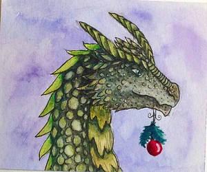 Christmas dragon by Sirithcam