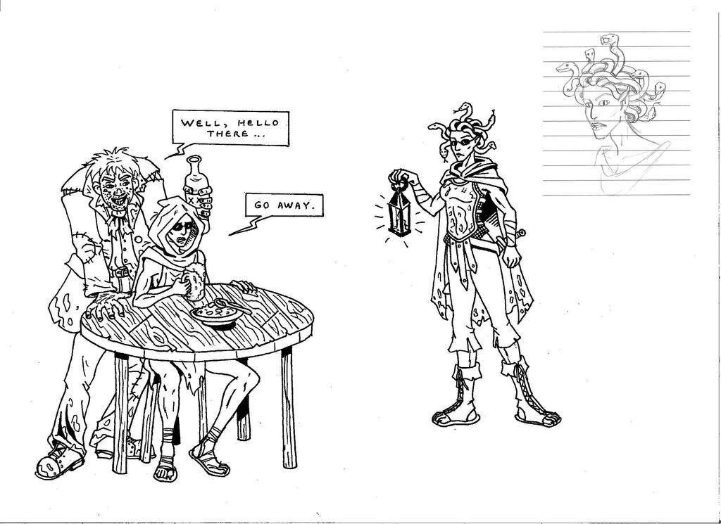 Iskandra, the Watch gorgon by zoccu
