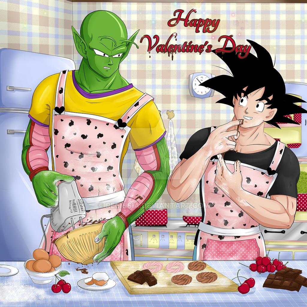 Happy valentine 39 s day with son goku and piccolo by - Happy valentines day anime ...
