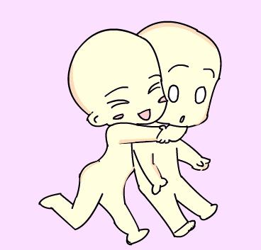 Chibi Couple Glomp Base by XmoYamanaka on DeviantArt