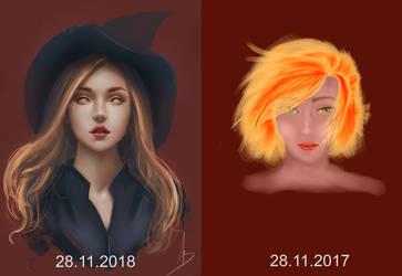 Art progress 1 year anniversary by trungbui42