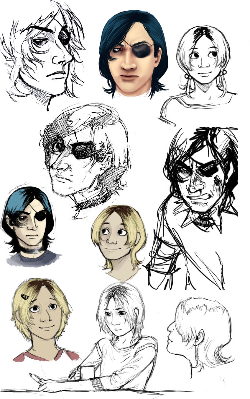 Antagonist Sketch Dump 01