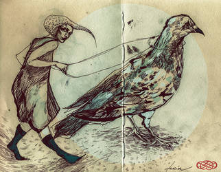 pet pigeon by all-the-femmes