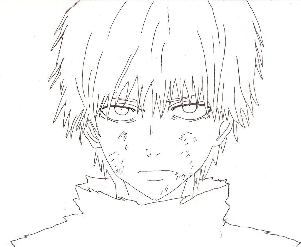 Tokyo Ghoul Kaneki Drawing Coloring Pages
