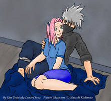 Kakashi and Sakura by Kakashi-fans