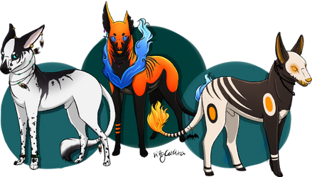 Xeno, Alvis and Poe by KittyCatKita