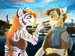 Kei and Ash: Boop (Commission) Sketched by Falvie