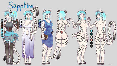New Sapphire Reference Sheet (Commission)
