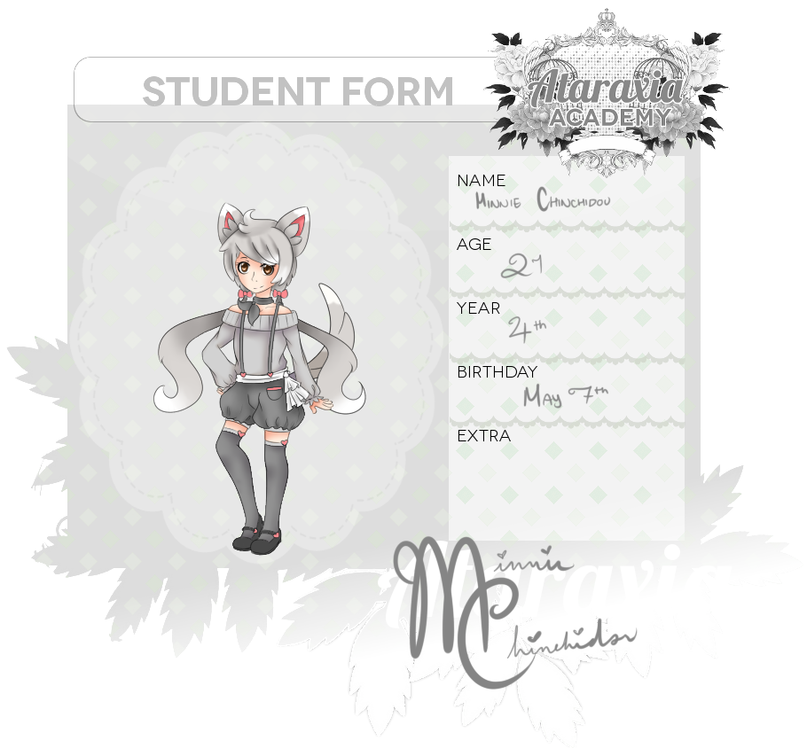 Ataraxia Academy App ll Minnie Chinchidou by Di-Cape
