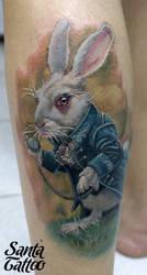 White Rabbit by santatatoo
