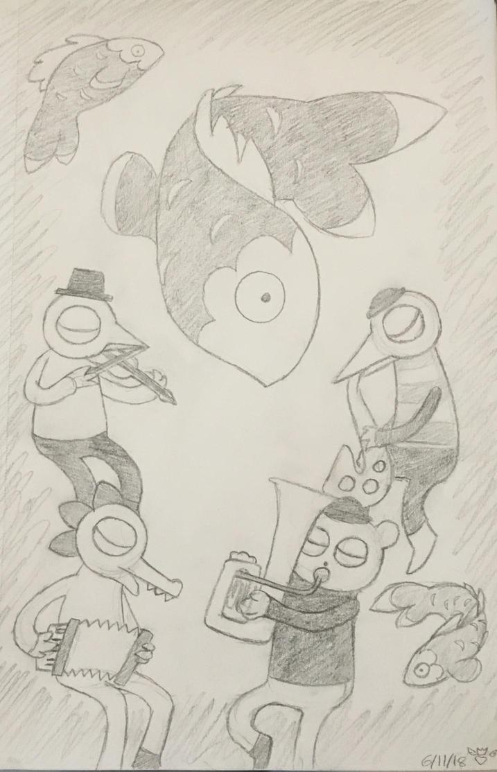 Deep Hollow Hollerers Sketch Thing by EndgameTheDragon