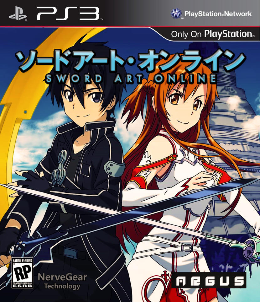 sword art online ps3 game box cover by gusrg on deviantart