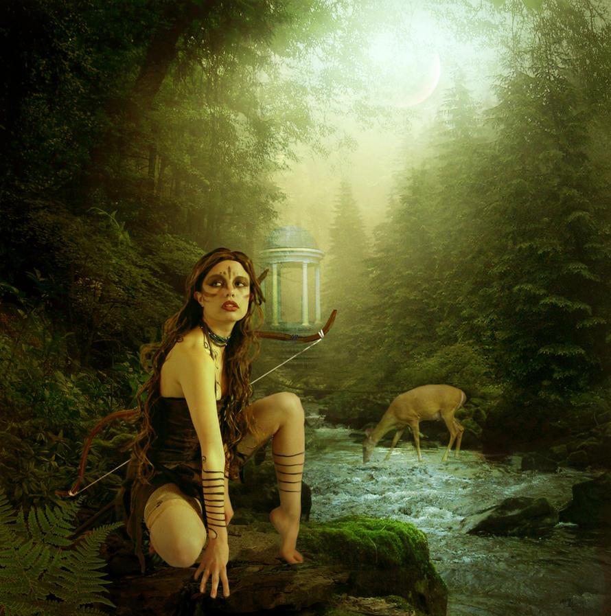 Artemis violscraper tarafından Hunt Tanrıçası