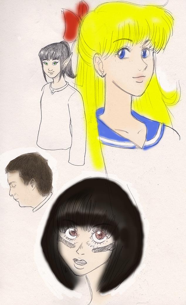 Random sketches by lamarce