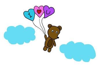 Valentines Bear by PrincessSeddie