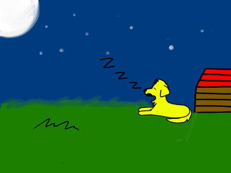Dog Asleep Under The Stars by PrincessSeddie