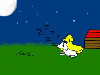 DogS Asleep Under The Stars by PrincessSeddie