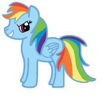 RainbowDash- First Attempt. by PrincessSeddie