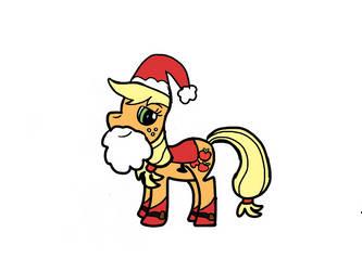 Santa Applejack by PrincessSeddie
