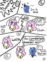 Teenage Celestia and Luna ''Burst Bubble'' by PrincessSeddie